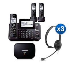 Panasonic 2 Line Phones KX TG9542B 1  KX TGA950B Bundle