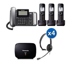 Panasonic 2 Line Phones panasonic KX TG9582B 1 KX TGA950B